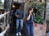 Bollywood actor Akshay Kumar and family spotted at Pali Hill in Bandra.