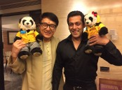 "Legendary action star Jackie Chan, who is here to promote his forthcoming film ""Kung Fu Yoga"", met Bollywood superstar Salman Khan, during his visit. Salman posted a photograph with the ""Rush Hour"" star from their meeting on Monday. The image shows the two actors posing with two stuffed panda toys, sharing a light moment for the camera. Previously, Salman had thanked Chan on Twitter for offering this film to his ""Dabangg"" co-star Sonu Sood. Sonu had replied to the ""Bajrangi Bhaijaan"" star by tweeting: ""Bhai Salman Khan I have an unusual power-packed surprise for you. See you soon in India... Pandeji Hum aah rahe hai. Jackie Chan."" ""Kung Fu Yoga"" is part of the three-film agreement signed between China and India during Chinese President Xi Jinping's recent visit to India."