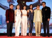 Kung Fu Yoga press conference held in Mumbai on January 23, 2017. Celebs like Hollywood actor Jackie Chan, filmmaker Stanley Tong, Salman Khan, Shilpa Shetty, Sonu Sood, Amyra Dastur, Disha Patani, Miya Muqi and others graced the event.