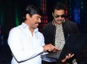 Tollywood actor Sunil launches Metro movie first song with producer Suresh Kondeti in Hyderabad.