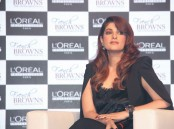 Bollywood actress Twinkle Khanna spotted during the launch of L'Oréal French Brown in Mumbai on March 21, 2017.