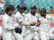 India defeated Australia by eight wickets in the fourth and final Test at the Himachal Pradesh Cricket Association (HPCA) Stadium here on Tuesday.