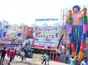 Prabhas' Baahubali 2 Hungama at RTC X Roads in Hyderabad.