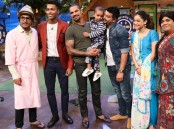 Team The Kapil Sharma Show with Suresh Raina, Shikhar Dhawan & Hardik Pandya on The Kapil Sharma Show.