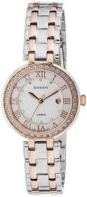 Casio Sheen Silver Dial Analog Watch for Women