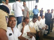 K Chiranjeevi at Rajamundry airport
