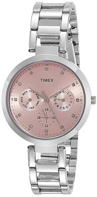Timex E-Class Analog Pink Dial Watch