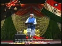 Providing better facilities to investors for 'Make in India' programme: PM at Sydney Allphones Arena