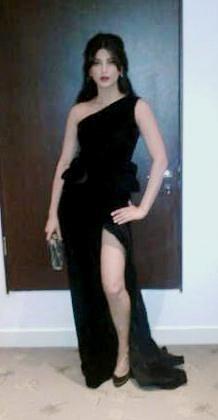 Indian actress Shruti Hasan at SIIMA awards 2012 in Dubai. Image: Twitter