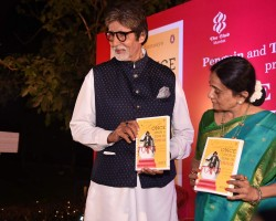 Bollywood actor Amitabh Bachchan launches Bhawana Somaaya's Book Once Upon A Time in India.