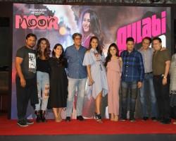 Celsbs like Sonakshi Sinha, Tulsi Kumar, Shibani Dandekar, singer Amaal Mallik, lyricist Kumaar, singers Tulsi Kumar and Yash Narvekar during the launch of song Gulabi 2.0 from film Noor, in Mumbai on March 22, 2017.
