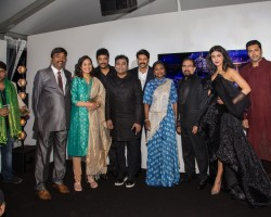 """The first look poster of Shruti Haasan, Jayam Ravi and Arya starrer upcoming trilingual historic drama """"Sanghamitra"""" was launched here on Thursday at the ongoing Cannes Film Festival."""