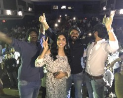 Telugu movie Kesava success tour event held at Vizag, AP. Celebs like Nikhil Siddharth, Ritu Varma, Sudheer Varma and others graced the event.