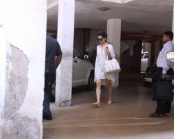 Bollywood actress Kangana Ranaut spotted at Clinic in Bandra on May 26, 2017.