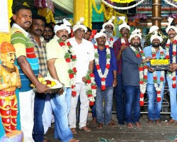 Sivakarthikeyan and Samantha's new movie pooja held at Chennai. Celebs like Sivakarthikeyan, Simran, Soori, Ponram, RD Raja, D Imman, Balasubramaniem, Napoleon, Yugabharathi graced the event.