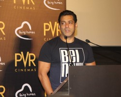 Actor Salman Khan during the announcement of the association with Being Human Foundation and PVR Cinemas.