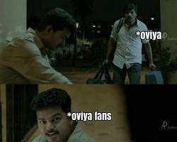 Actress Oviya's Memes goes viral in Social Media.