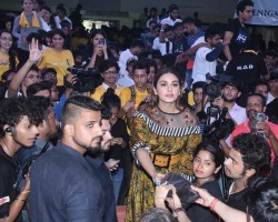 Huma Qureshi snapped promoting 'Partition: 1947' at Poddar college.