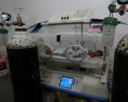 Newborn babies are seen at an intensive care unit of a maternity hospital in east Mosul, Iraq. Al-Khansa Hospital in East Mosul may be a shell of its former self but it is still the city's main government-run maternity facility. Last month alone, despite severe shortages of medicines and equipment, it delivered nearly 1,400 babies.