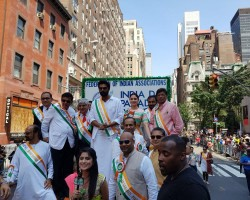 """Baahubali"" pair Rana Daggubati and Tamannaah Bhatia attended the 37th India Day Parade organised by the Federation of Indian Associations here to celebrate India's 71st Independence Day. The parade took place on Sunday. ""Honoured to be part of annual India Day parade in New York,"" Tamannaah tweeted on Monday."