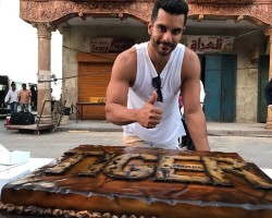 """Actor Angad Bedi has wrapped up his schedule for the upcoming superstar Salman Khan starrer """"Tiger Zinda Hai"""" in Abu Dhabi. Angad on Thursday shared a photograph Twitter from the film's set."""