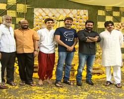 NTR 28: Actor Powerstar Pawan Kalyan launches Jr NTR and Trivikram Srinivas' film.