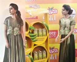 South Indian Actress Samantha Akkineni launches Maaza Gold in Bangalore.