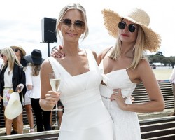 Anna and sister Andrea Heinrich attends Portsea Polo on January 13, 2018 in Melbourne.