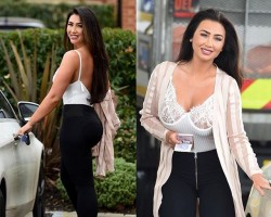 Lauren Goodger shows off her slimmed down figure after weight loss.