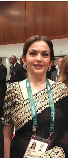 Rio 2016,Nita Ambani,Sachin Tendulkar,Nita Ambani and Sachin Tendulkar,Sachin Tendulkar at RIO 2016,Rio 2016 Olympics,Rio Olympics,Abu Jani Sandeep Khosla