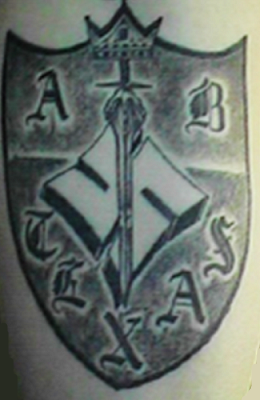The sentence of the while supremacist gang members comes after a Houston-based Department of Justice probe. (Photo: a gang patch for the Aryan Brotherhood of Texas.)