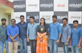 Tamil movie Maanagaram press meet event held at Chennai. Celebs like Sandeep Kishan, Regina Cassandra, Charlie, Sri, SR Prabhu, Prabhu Venkatachalam, Lokesh Kanagaraj, Javed Riaz and others graced the event.