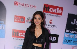 Bollywood actress Anushka Sharma spotted during the HT Most Stylish Awards in Mumbai on March 24, 2017.