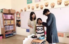 South Indian actor Pawan Kalyan celebrates his daughter Aadya's Birthday.
