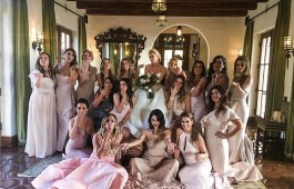 Hollywood actress Rachel Bilson looks stunning in white gown at friend's wedding.
