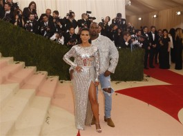 Celebs like Blake Lively, Kanye West, Kim Kardashian, Singer Katy Perry, Singer Beyonce, Singer FKA Twigs and actor Robert Pattinson at Metropolitan Museum of Art Costume Institute Gala (Met Gala).