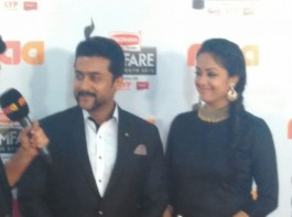 Photos of Suriya, Jyothika at Filmfare Awards 2016.