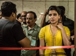 Janatha Garage actress Samantha Ruth Prabhu inaugurates 'Bahar Cafe' Biryani Restaurant in Bangalore.