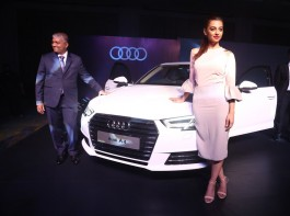 Actress Radhika Apte launches the Next Gen Audi A4 in Chennai.