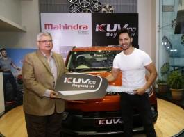 Brand Ambassador Varun Dhawan gets Mahindra KUV 100 as gift.