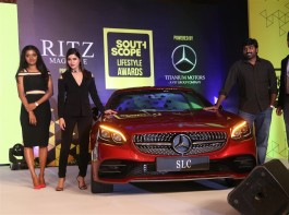 South Scope Lifestyle Awards 2016 event held at Chennai. Celebs like Vijay Sethupathi, Samantha Ruth Prabhu, Latha Rajinikanth, Aishwarya Dhanush, Soundarya Ashwin, Madhumitha, Manchu Lakshmi, Sanjana Galrani, Mariazeena Johnson, Raashi Khanna and others graced the event.