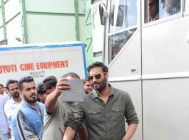 Photos of Bollywood actor Ajay Devgn promotes 'Shivaay' on the set of Savdhaan India at Filmcity.