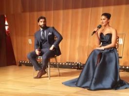 Ranveer Singh, Vaani Kapoor at the trailer launch of 'Befikre' in Paris.