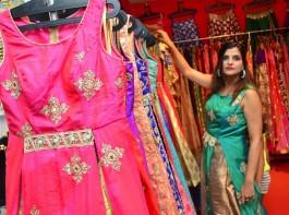 Trendz Vivah Wedding and Festive Collection Launch at Taj Krishna hotel in Hyderabad. Hyderabadi Model Shilpi Sharma, Nilofer Haidry graced the event.