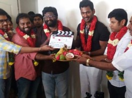Tamil movie Irumbu Thirai Pooja event held in Chennai. Irumbu Thirai is an upcoming Tamil movie directed by debutant P. S. Mithran. The film stars Vishal and Samantha in the lead role. Arya is going to play the baddie while Yuvan Shankar Raja has been roped in to score the music.