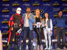 Photos of Bollywood Actor Ajay Devgn launches Shivaay comic and merchandise at Bombay exhibition center.
