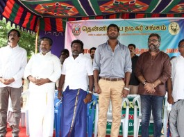 Photos of Tamilnadu Nadigar Sangam 2016 Diwali Gift Distribution event held at Chennai. Celebs like Nassar, Vishal, Rajkiran, Karunas, Manobala, Ponvannan and others graced the event.