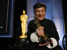 Actor Jackie Chan poses with his Honorary Award at the 8th Annual Governors Awards in Los Angeles, California, U.S., November 12, 2016.