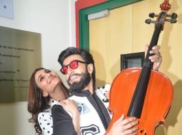 Photos of Actors Ranveer Singh and Veena Kapoor during the promotion of film Befikre at Radio Mirchi studio in Mumbai, on Nov 28, 2016.