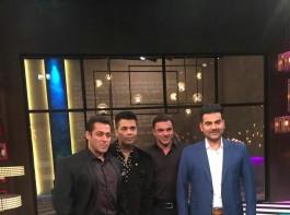 Koffee with Karan's 100th episode: Salman Khan appears with brothers Sohail Khan and Arbaaz Khan.
